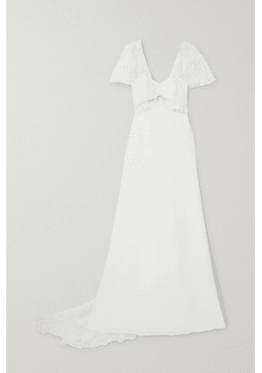 Rime Arodaky - Kiss Embroidered Tulle And Crepe Gown - White