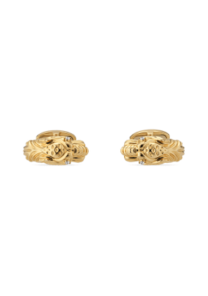 Tiger head 18k cufflinks