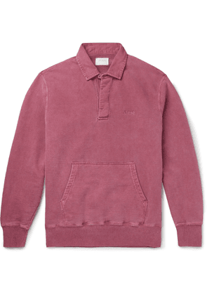 Aimé Leon Dore - Pigment-Dyed Embroidered Fleece-Back Cotton-Jersey Sweatshirt - Men - Pink