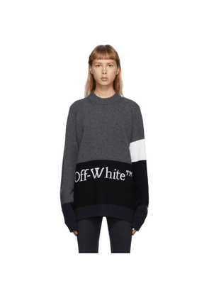 Off-White Grey Color Block Sweater