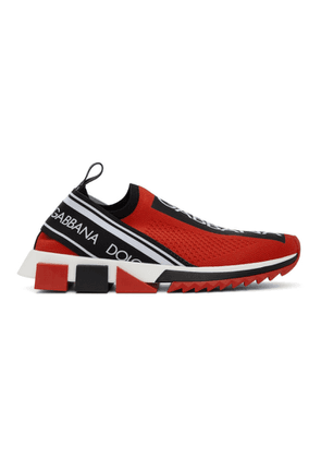 Dolce and Gabbana Red Sorrento Sneakers