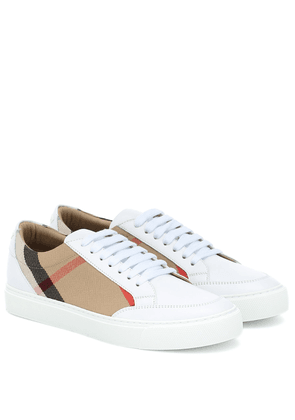 House Check leather-trimmed sneakers