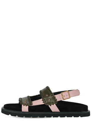 30mm Leather Flat Sandals