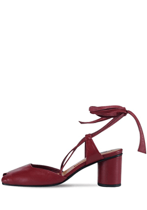 60mm Open Toe Leather Sandals