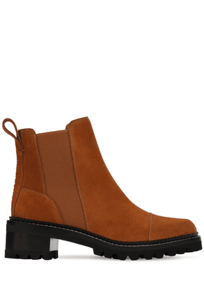 45mm Suede Ankle Boots