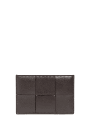 Maxi Intreccio Leather Card Holder