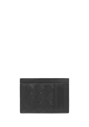 Intreccio Leather Card Holder