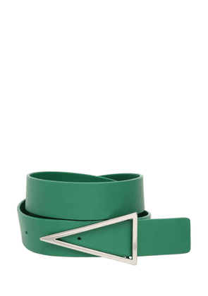 3cm V Buckle Leather Belt