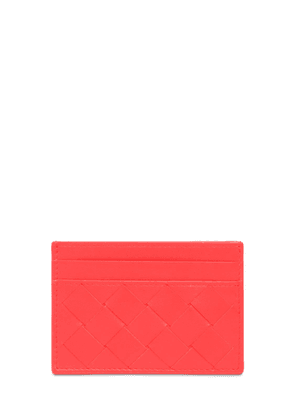 Intrecciato Leather Card Holder