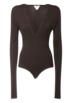 V Neck Cashmere Knit Bodysuit