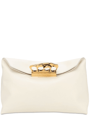 Ring Soft Leather Clutch