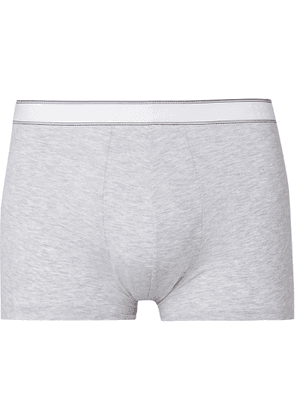 Derek Rose - Ethan Mélange Stretch-Cotton Boxer Briefs - Men - Gray