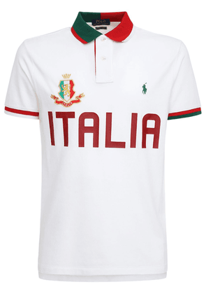 Italy Custom Fit Cotton Piqué Polo