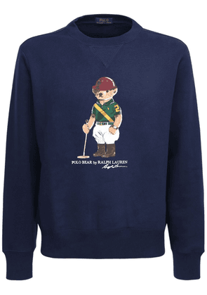 Cotton Jersey Bear Sweatshirt