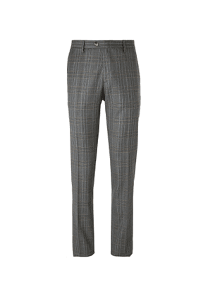 Etro - Prince of Wales Checked Wool Suit Trousers - Men - Gray