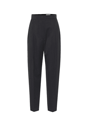 High-rise wool tapered pants