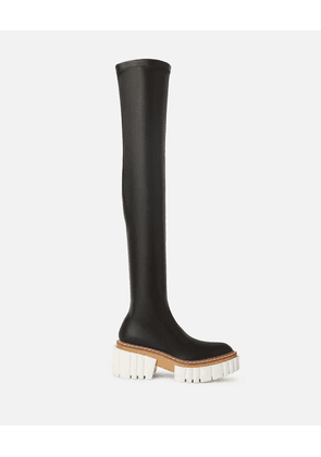 Stella McCartney Black Over-The-Knee Emilie Boots, Women's, Size 1
