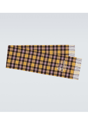 Vito Check Face scarf