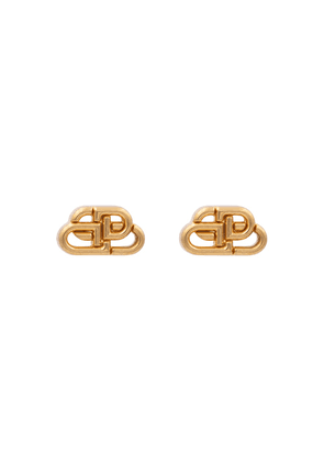 BB XS gold-plated stud earrings