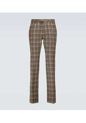Flared woven pants