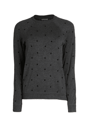PJ Salvage Snow Dot Long Sleeve Top