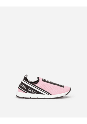 Dolce & Gabbana Shoes (24-38) - SORRENTO SLIP-ON SNEAKERS WITH LOGO TAPE PINK female 26