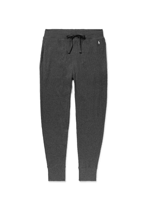 POLO RALPH LAUREN - Slim-Fit Tapered Waffle-Knit Cotton-Blend Jersey Pyjama Trousers - Men - Gray
