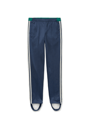 adidas Consortium - Wales Bonner Lovers Slim-Fit Tapered Striped Jersey Track Pants with Detachable Stirrups - Men - Blue