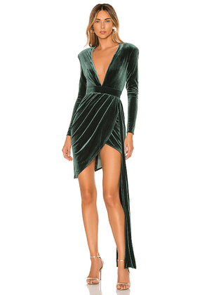 Michael Costello x REVOLVE Geneva Mini Dress in Green. Size M, S, XS, XXS.