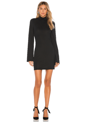 L'Academie The Letya Mini Dress in Black. Size S.