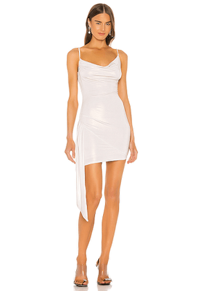 h:ours Cielo Mini Dress in White,Metallics. Size M.