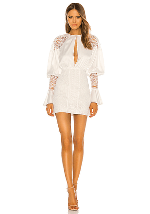 Michael Costello x REVOLVE Shandy Mini Dress in White. Size M, S, XS, XXS.