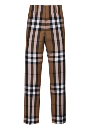 Wool Checked Trousers