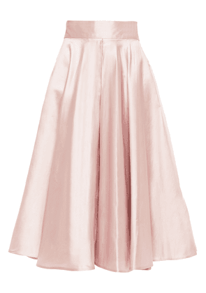 Dolce & Gabbana Pleated Silk-shantung Skirt Woman Baby pink Size 40