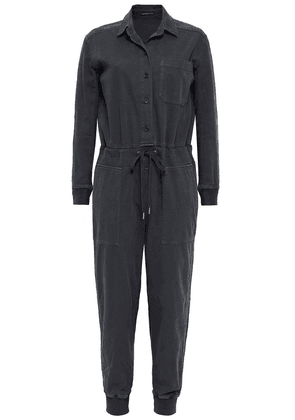 James Perse Cotton-blend Twill Jumpsuit Woman Dark gray Size 3