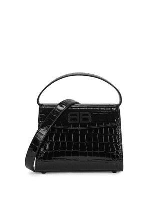 Balenciaga Ghost Small Crocodile-effect Leather Top Handle Bag