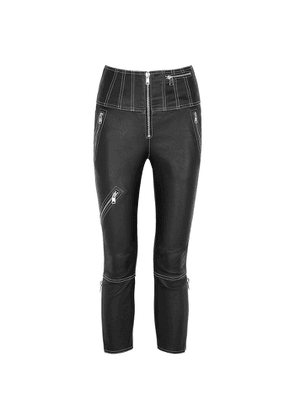 Alexander McQueen Black Skinny Leather Trousers