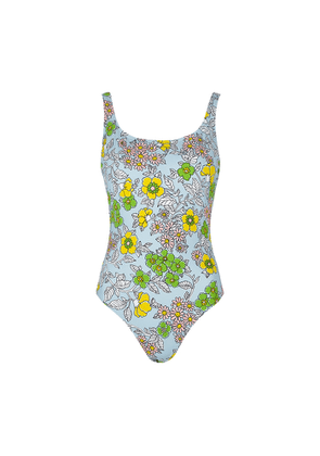 Tory Burch Blue Printed Swimsuit