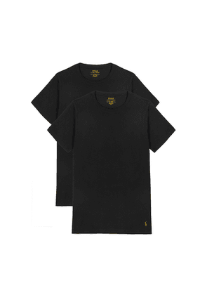 Polo Ralph Lauren Black Stretch-cotton T-shirt - Set Of Two