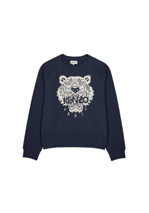 Kenzo Icon Tiger-embroidered Cotton Sweatshirt