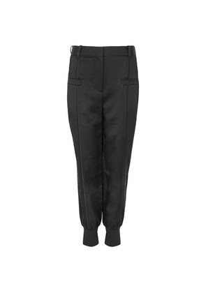 3.1 Phillip Lim Black Tapered Satin Trousers
