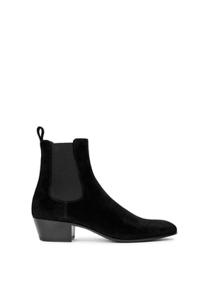 Saint Laurent Cole 45 Black Suede Chelsea Boots