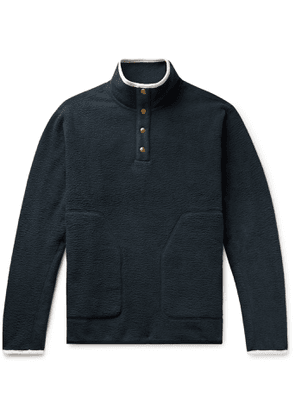 Aimé Leon Dore - Microfibre-Trimmed Fleece Half-Placket Sweatshirt - Men - Black