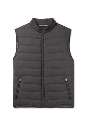 Canali - Packable Quilted Wool Gilet - Men - Gray