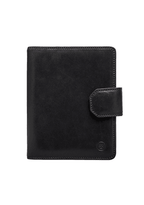 Maxwell Scott Bags Finest Black Italian Leather Mens A5 Padfolio Notebook