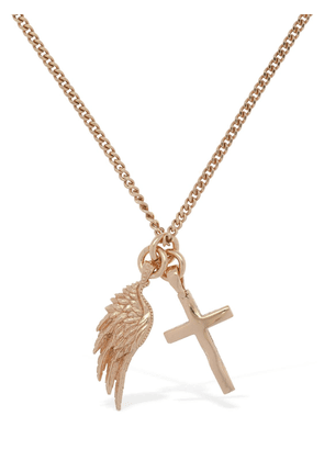 Wing & Cross Long Necklace