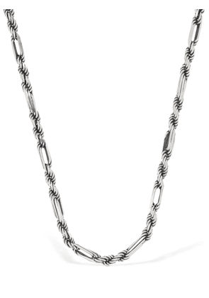 Rope & Oval Link Chain Necklace