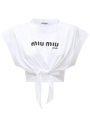 Cotton Jersey Top W/ Front Logo & Bow