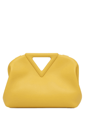 Triangle Leather Top Handle