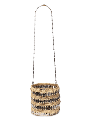 1969 Straw & Brass Bucket Bag